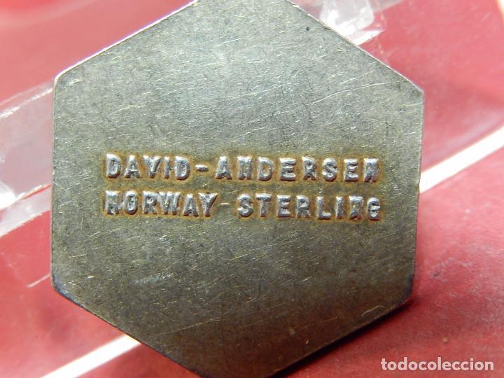 Joyeria: Pequeña medalla o colgante. Signo del zodiaco Centauro. Plata. David Andersen. Noruega. - Foto 5 - 73516247