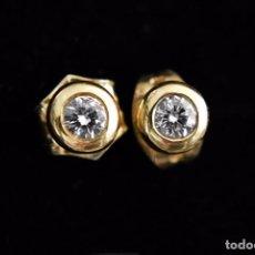 Joyeria - LIQUIDACIÓN, pendientes Dormilonas de diamantes 0,20ct VS-H en oro amarillo 18K - 74361087
