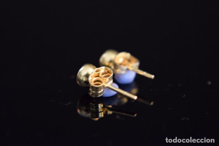 Joyeria: LIQUIDACIÓN, pendientes Dormilonas de diamantes 0,20ct VS-H en oro amarillo 18K - Foto 3 - 74361087