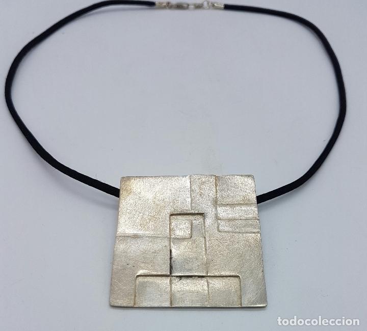Joyeria: Gargantilla en plata de ley contrastada de la firma JOID'ART diseño exclusivo, correa de seda . - Foto 2 - 128132054