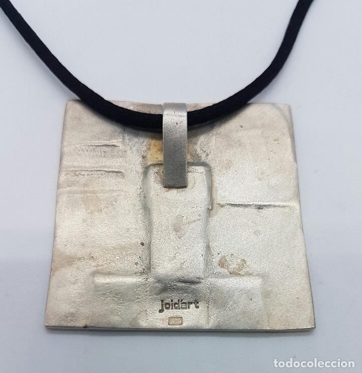Joyeria: Gargantilla en plata de ley contrastada de la firma JOID'ART diseño exclusivo, correa de seda . - Foto 3 - 128132054