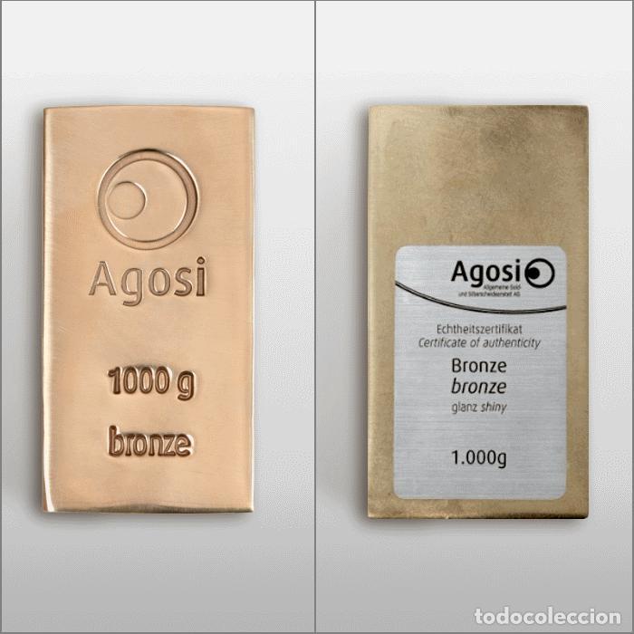 Joyeria: Set de 4 lingotes de 1kg de bronce, cobre, aluminio y latón, fabricados por refinería alemana Agosi - Foto 3 - 154804409