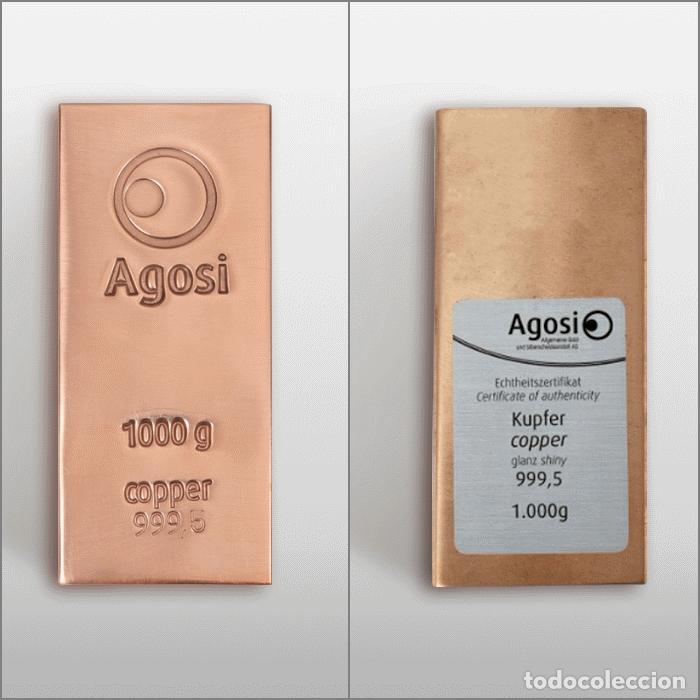 Joyeria: Set de 4 lingotes de 1kg de bronce, cobre, aluminio y latón, fabricados por refinería alemana Agosi - Foto 4 - 154804409