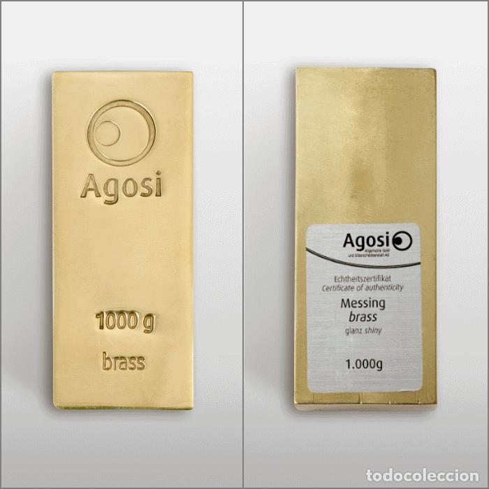 Joyeria: Set de 4 lingotes de 1kg de bronce, cobre, aluminio y latón, fabricados por refinería alemana Agosi - Foto 5 - 154804409