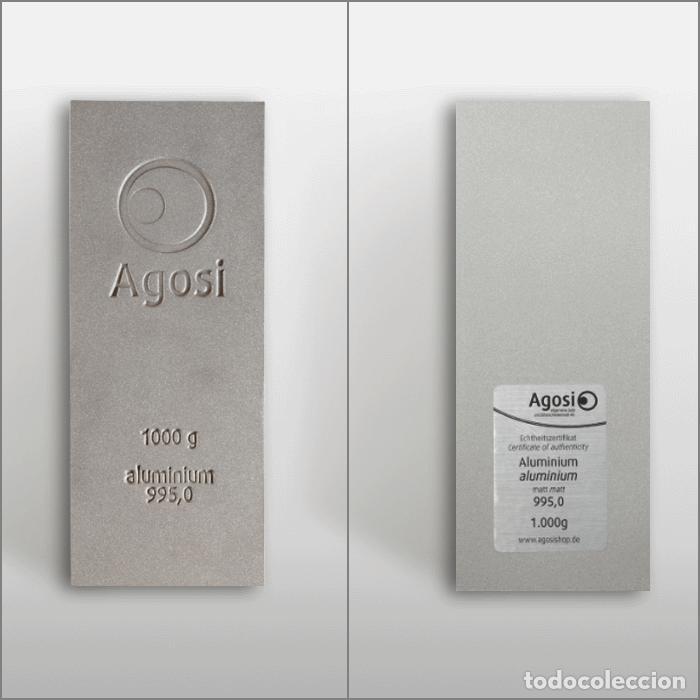 Joyeria: Set de 4 lingotes de 1kg de bronce, cobre, aluminio y latón, fabricados por refinería alemana Agosi - Foto 6 - 154804409