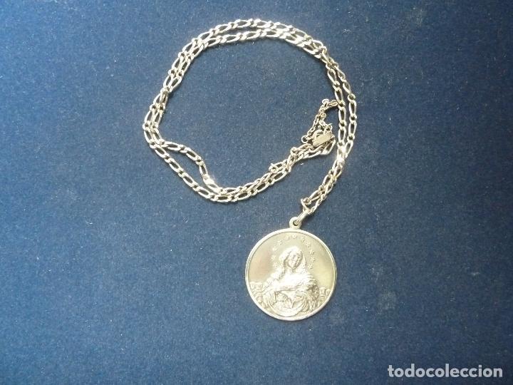 b8304e76f31e Cadena y medalla de plata. virgen purisima. (rs - Sold through ...