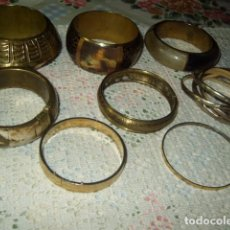 Joyeria: LOTE DE PULSERAS DE METAL,HUESO,ASTA DE TORO,VINTAGE.. Lote 75936695