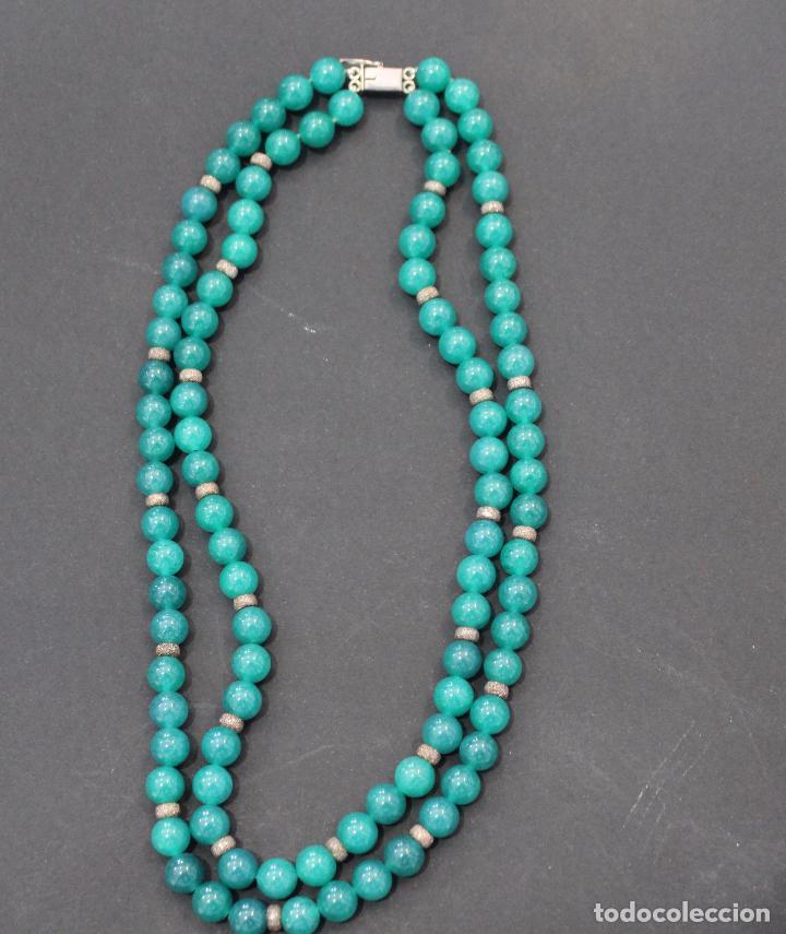 Joyeria: Collar en plata plata 833 MARCADO CON CONTRASTE y jade - Foto 8 - 55120248