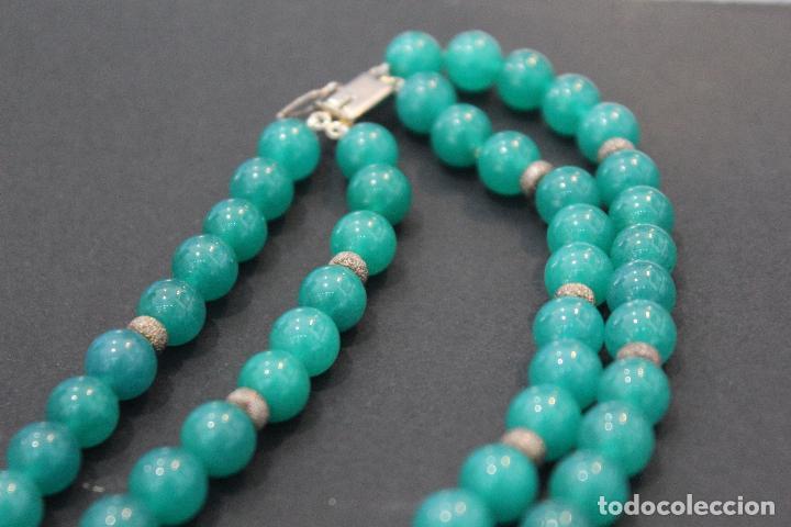 Joyeria: Collar en plata plata 833 MARCADO CON CONTRASTE y jade - Foto 12 - 55120248