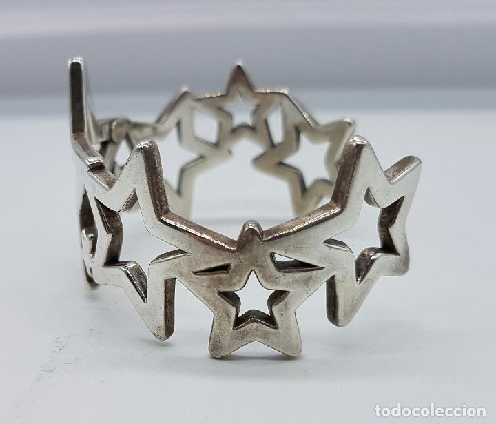 Joyeria: Magnifico brazalete en plata de ley 925 TOUS autentico, con forma de estrellas, y caja original . - Foto 2 - 76781547