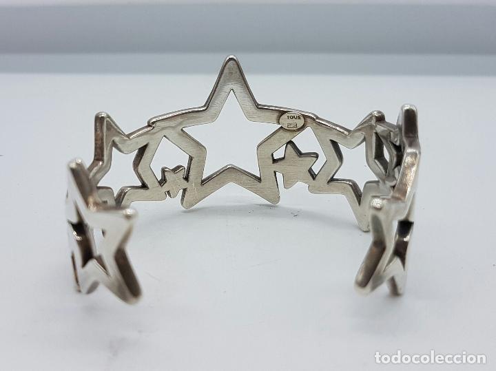 Joyeria: Magnifico brazalete en plata de ley 925 TOUS autentico, con forma de estrellas, y caja original . - Foto 3 - 76781547