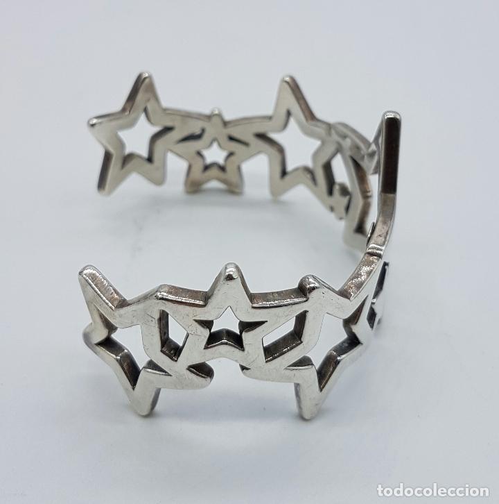 Joyeria: Magnifico brazalete en plata de ley 925 TOUS autentico, con forma de estrellas, y caja original . - Foto 4 - 76781547