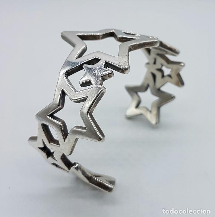Joyeria: Magnifico brazalete en plata de ley 925 TOUS autentico, con forma de estrellas, y caja original . - Foto 6 - 76781547
