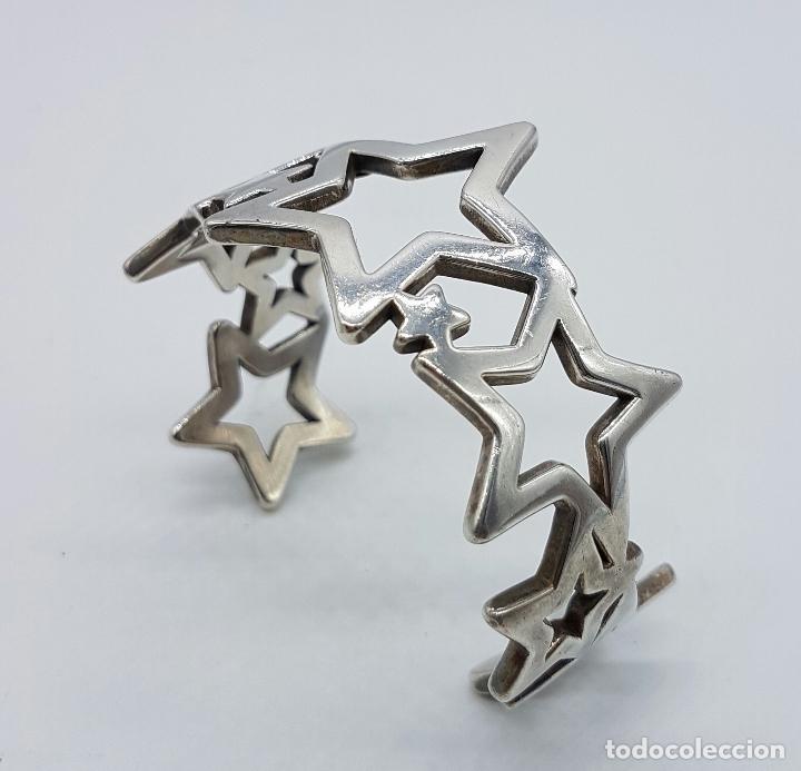Joyeria: Magnifico brazalete en plata de ley 925 TOUS autentico, con forma de estrellas, y caja original . - Foto 7 - 76781547