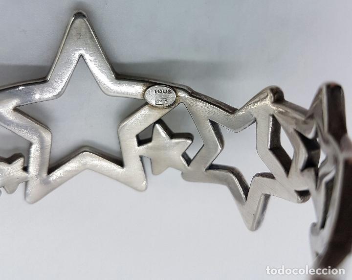 Joyeria: Magnifico brazalete en plata de ley 925 TOUS autentico, con forma de estrellas, y caja original . - Foto 8 - 76781547