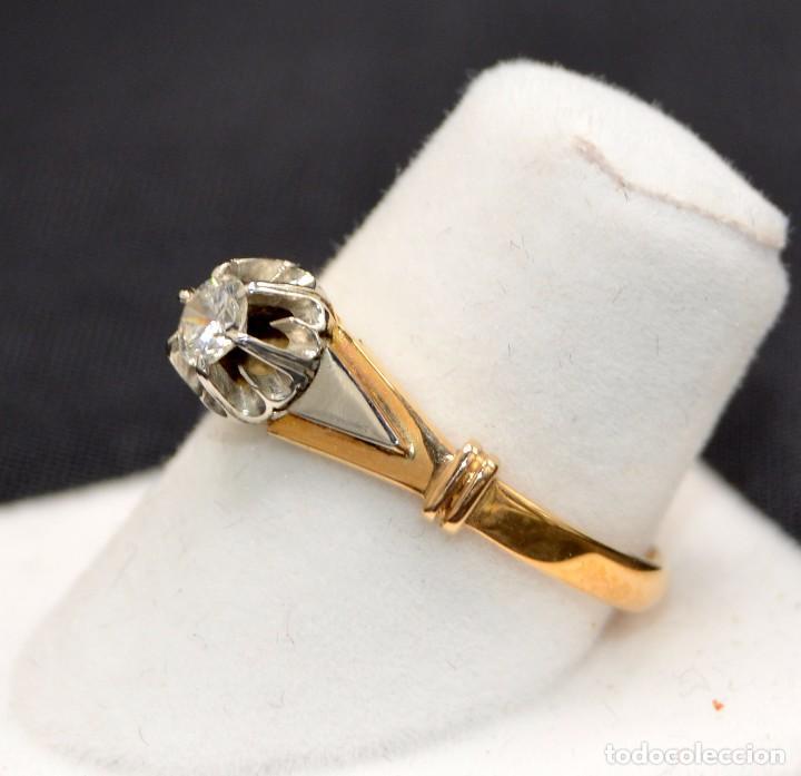 Joyeria: Hermosa sortija Solitario de en oro 18k Platino Diamonds Engagement - Foto 3 - 77463901