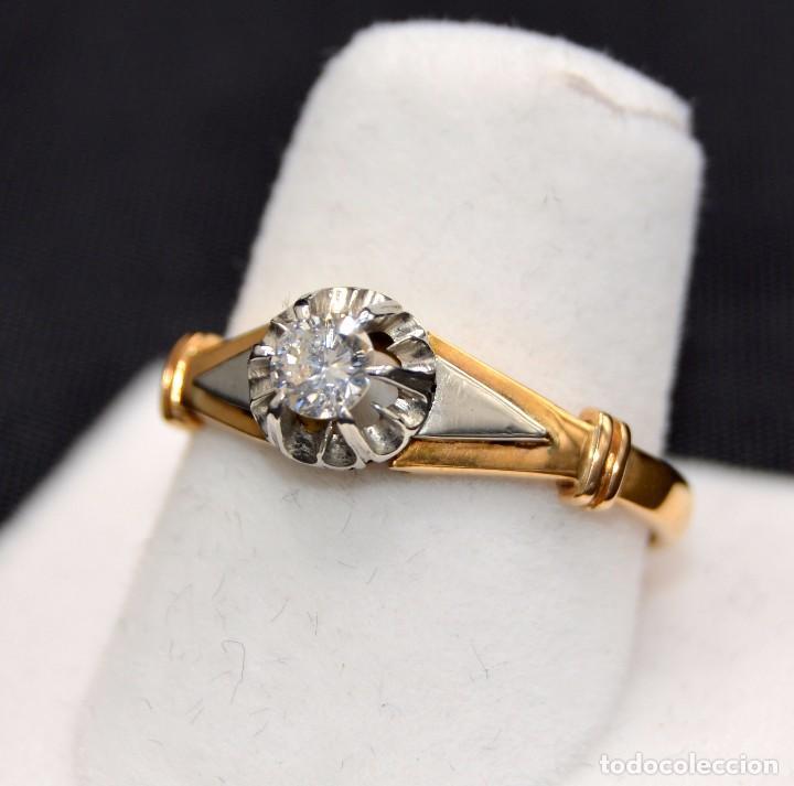 Joyeria: Hermosa sortija Solitario de en oro 18k Platino Diamonds Engagement - Foto 4 - 77463901