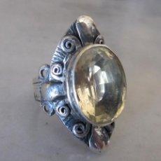 Jewelry - anillo sortija de plata con citrino siglo XIX - 77559957