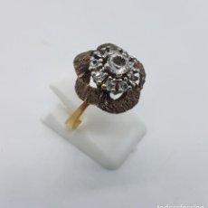 Jewelry - Anillo epoca art decó en plata de ley contrastada y oro de 18k con circonitas talla brillante . - 109622808
