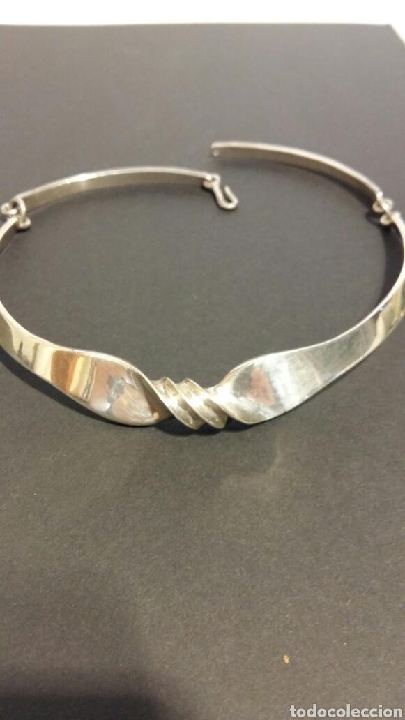 Joyeria: Conjunto de gargantilla, pulsera y pendientes de plata de PUIG DORIA. - Foto 4 - 78123154