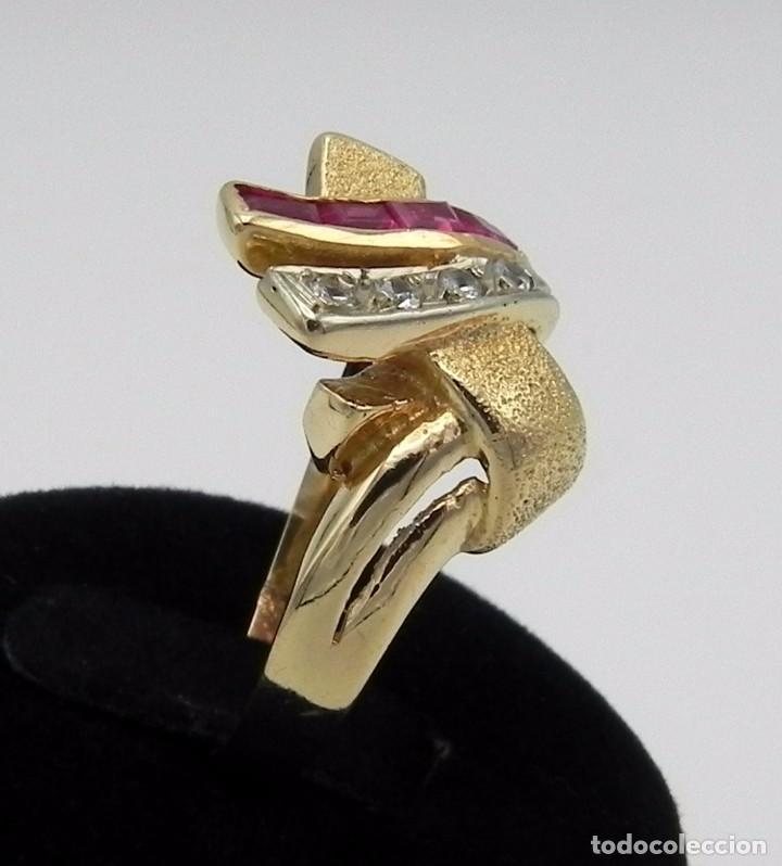 6b13c43244f0 Joyeria  Espectacular Chevalier Sortija Antigua en Oro Platino Rubi y  Diamante - Foto 2 -