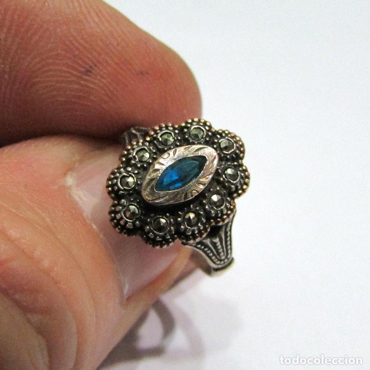 Joyeria: Antiguo anillo de plata con contraste - Foto 2 - 79318173