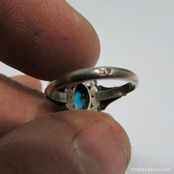 Joyeria: Antiguo anillo de plata con contraste - Foto 3 - 79318173