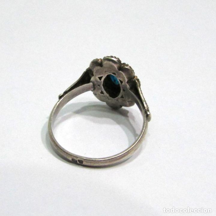 Joyeria: Antiguo anillo de plata con contraste - Foto 4 - 79318173