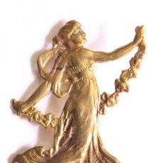 Joyeria: PRECIOSO BROCHE COLGANTE ART NOUVEAU, NINFA BAILANDO.EN BRONCE 5CM. ORIGINAL.. Lote 79646009