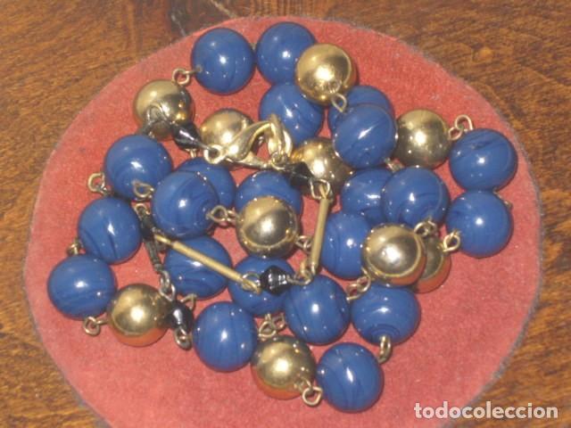 VINTAGE COLLAR DE PERLAS DE LAPISLAZULI. (Joyería - Collares Antiguos)