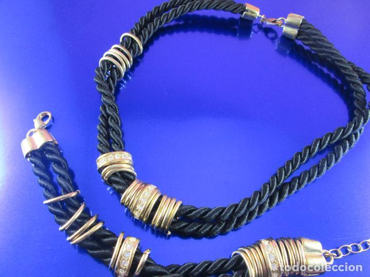 Joyeria: juego de collar y pulsera-artesanal-bisutería-piedras-ver fotos - Foto 3 - 80365085