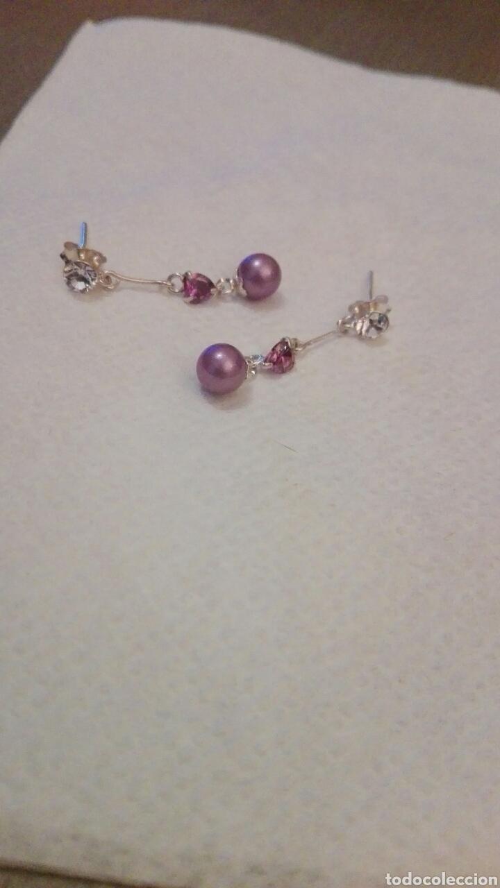 Joyeria: Bonitos pendientes plata y perla morada,nuevos - Foto 2 - 80518777