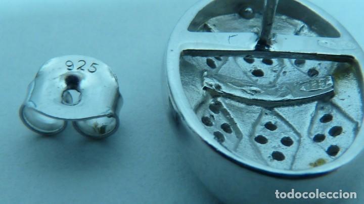 Joyeria: PENDIENTES CON EPOXY ROSA Y CIRCONITAS EN PLATA DE LEY (925MM). - Foto 7 - 80815511