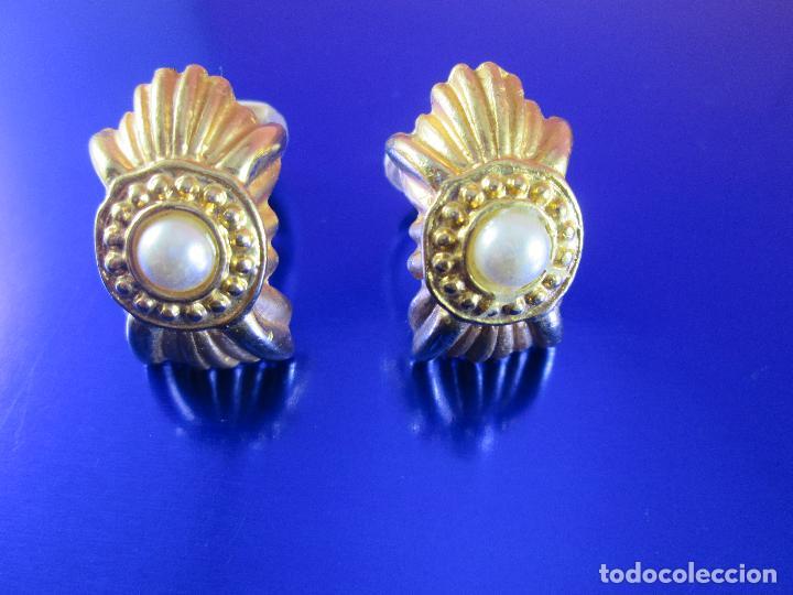 Joyeria: pendientes-bisutería-baño de oro-perlas?-buen estado-ver fotos. - Foto 2 - 81047540