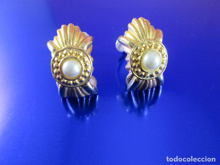 Joyeria: pendientes-bisutería-baño de oro-perlas?-buen estado-ver fotos. - Foto 3 - 81047540