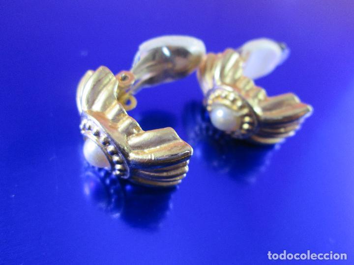 Joyeria: pendientes-bisutería-baño de oro-perlas?-buen estado-ver fotos. - Foto 4 - 81047540
