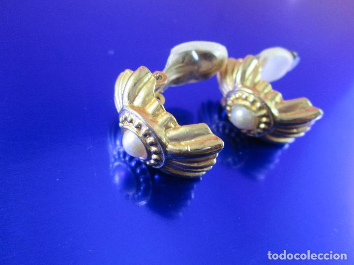 Joyeria: pendientes-bisutería-baño de oro-perlas?-buen estado-ver fotos. - Foto 5 - 81047540