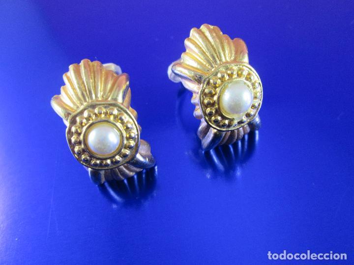Joyeria: pendientes-bisutería-baño de oro-perlas?-buen estado-ver fotos. - Foto 7 - 81047540