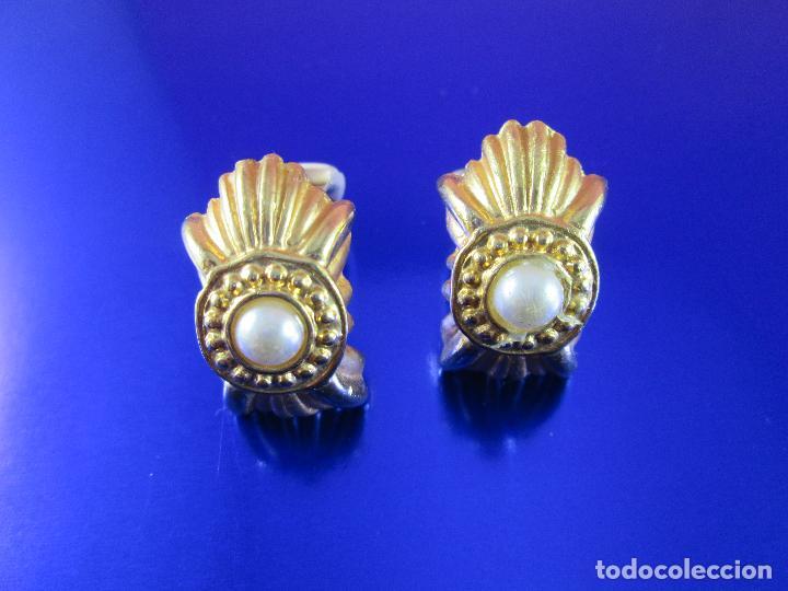 Joyeria: pendientes-bisutería-baño de oro-perlas?-buen estado-ver fotos. - Foto 8 - 81047540