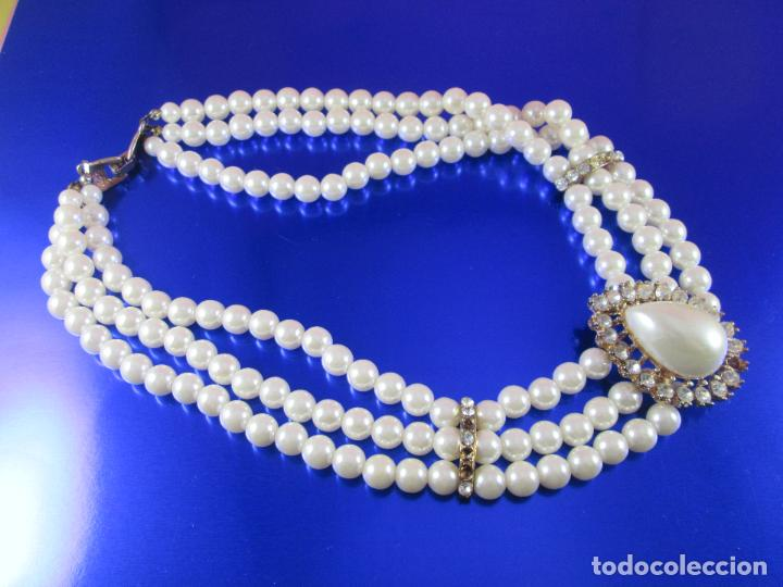 Joyeria: collar-perlas-bisutería?-precioso-ver fotos - Foto 2 - 81093672