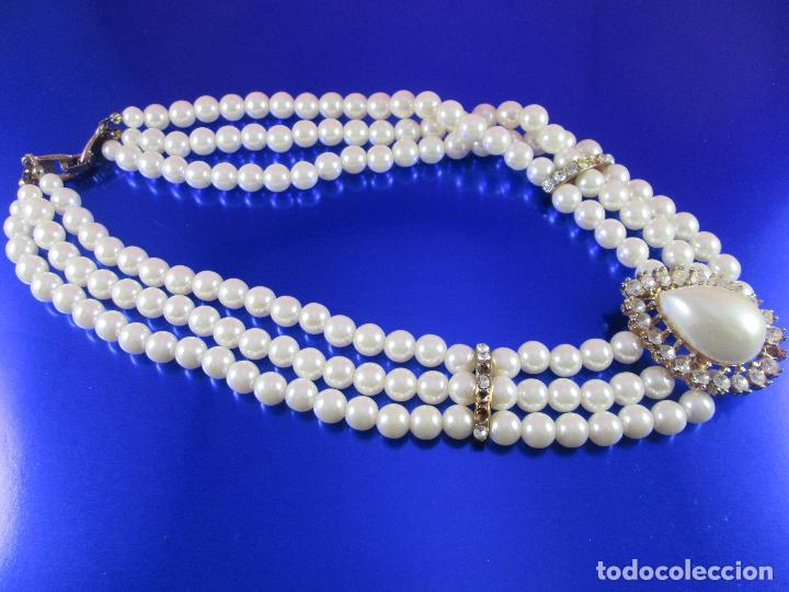 Joyeria: collar-perlas-bisutería?-precioso-ver fotos - Foto 3 - 81093672