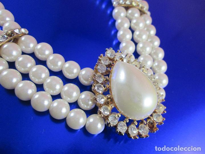Joyeria: collar-perlas-bisutería?-precioso-ver fotos - Foto 4 - 81093672