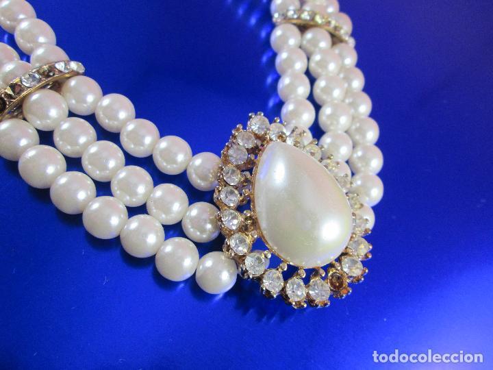 Joyeria: collar-perlas-bisutería?-precioso-ver fotos - Foto 5 - 81093672