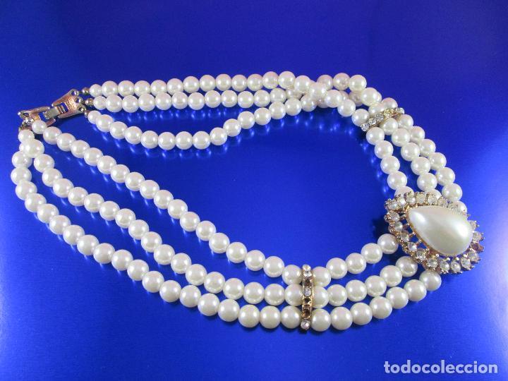 Joyeria: collar-perlas-bisutería?-precioso-ver fotos - Foto 6 - 81093672