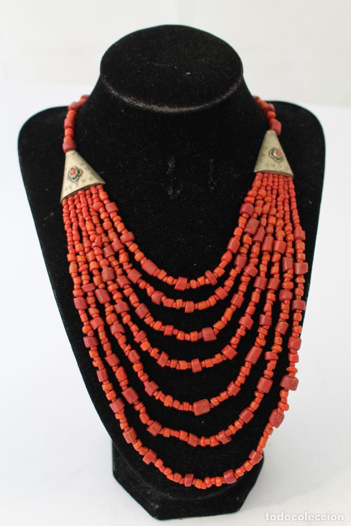 Joyeria: collar rojo y plata nepali - Foto 3 - 91030442