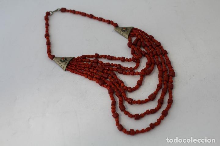 Joyeria: collar rojo y plata nepali - Foto 4 - 91030442