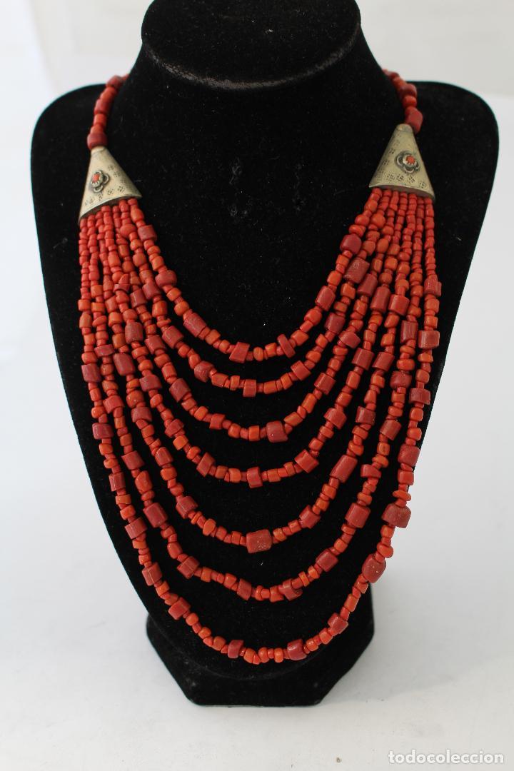Joyeria: collar rojo y plata nepali - Foto 6 - 91030442