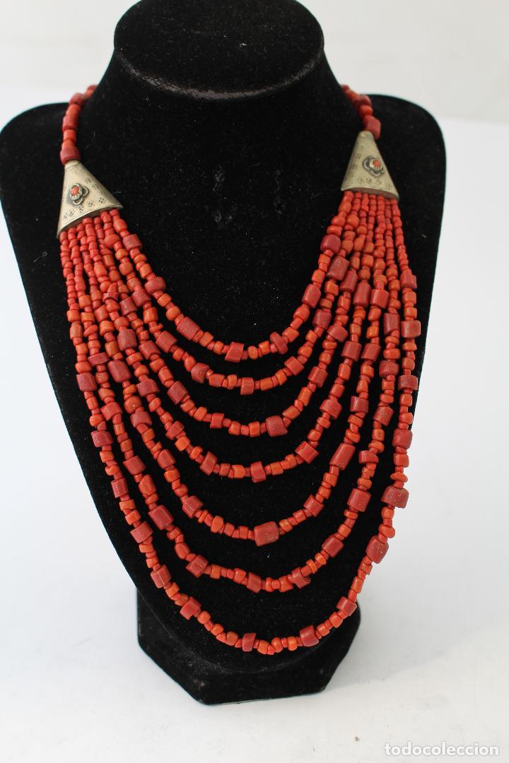 Joyeria: collar rojo y plata nepali - Foto 8 - 91030442