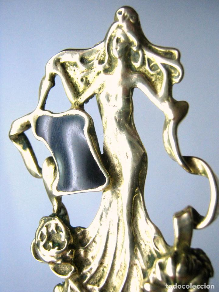 Joyeria: BROCHE COLGANTE DE BRONCE ESTILO MODERNISTA ART NOUVEAU - SIGLO XX - Foto 4 - 82502648