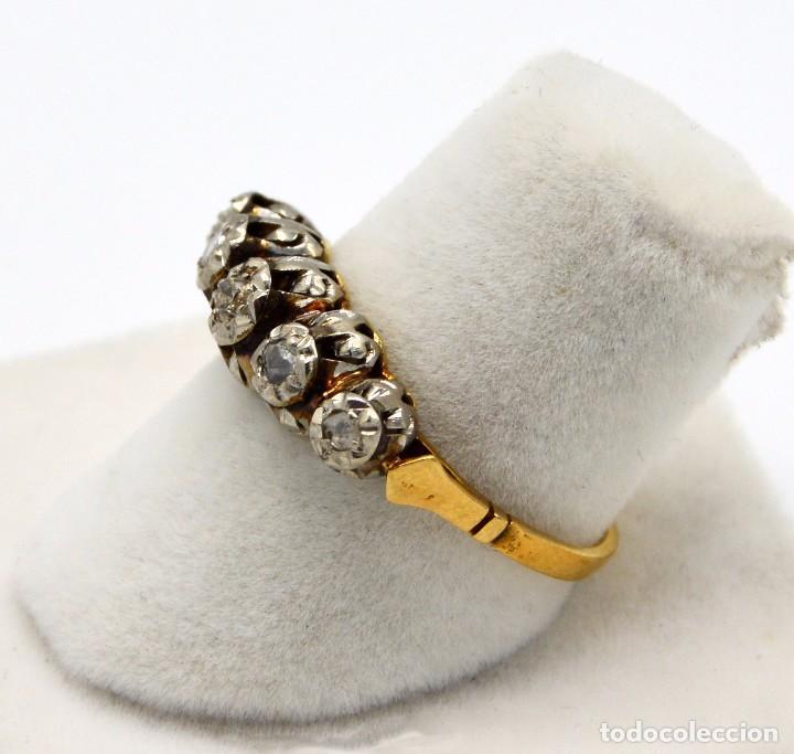 70caf5a3fb58 Joyeria  Sortija antiguo Cintillo en Platino oro 18k y Diamantes - Foto 3 -  82988564